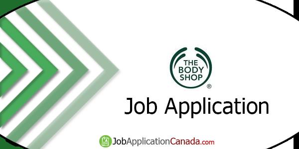 The Body Shop Job Application