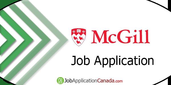 McGill University Job Application