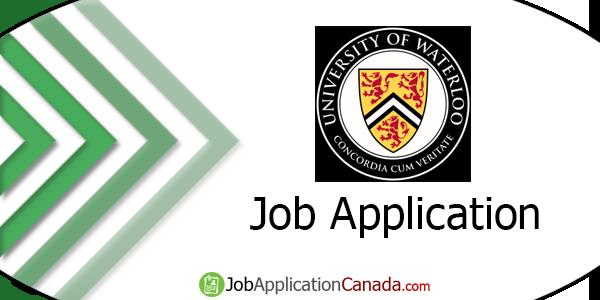 University of Waterloo Job Application