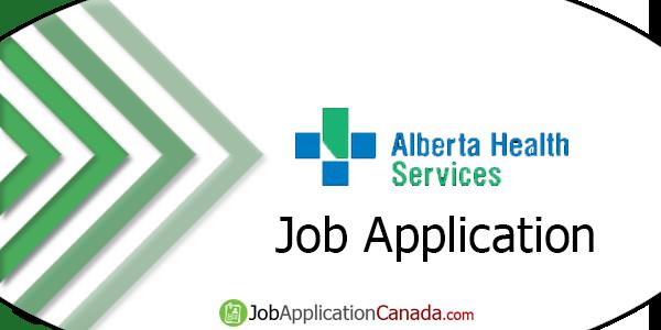 Alberta Health Services Job Application