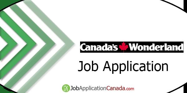Canada's Wonderland Job Application