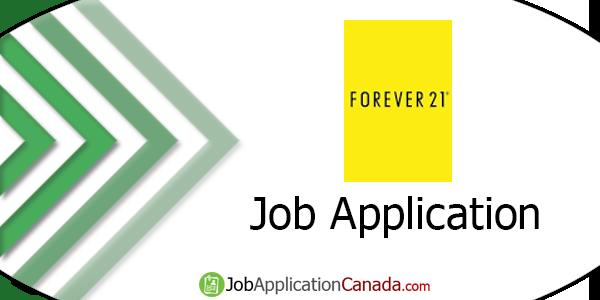 Forever 21 Job Application