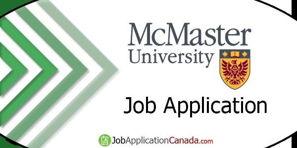 McMaster University Job Application