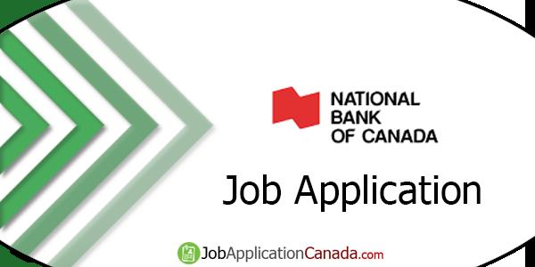National Bank of Canada Job Application